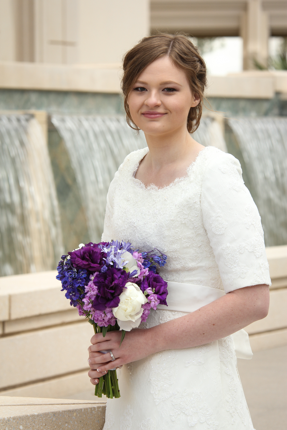 bride photo at Gilbert AZ Temple