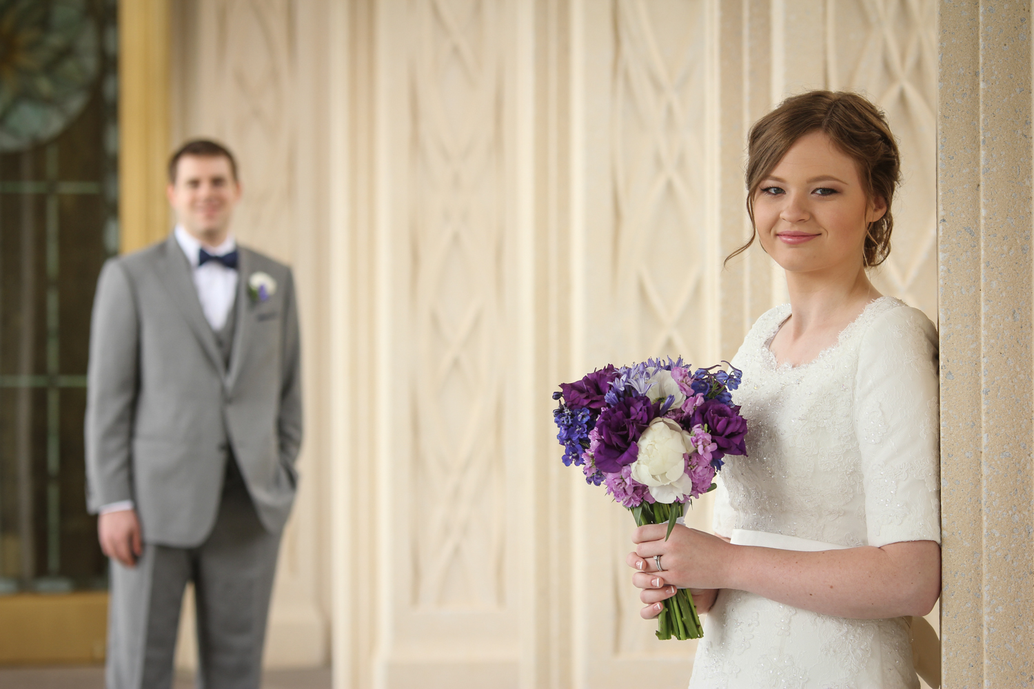 gilbert temple wedding photograph