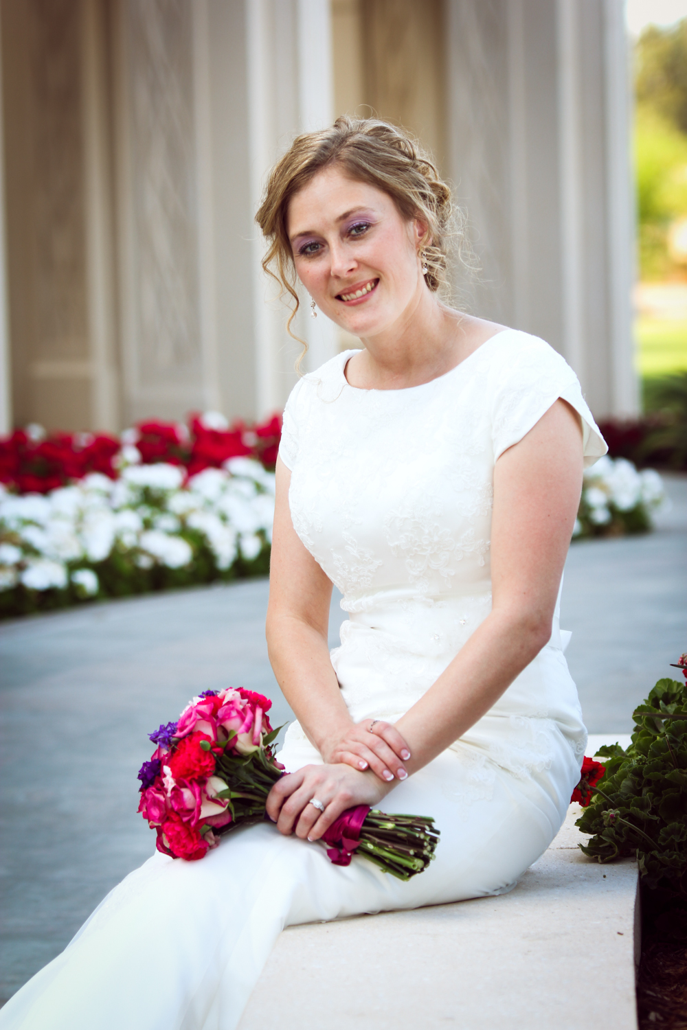 Bride at Gilbert Temple
