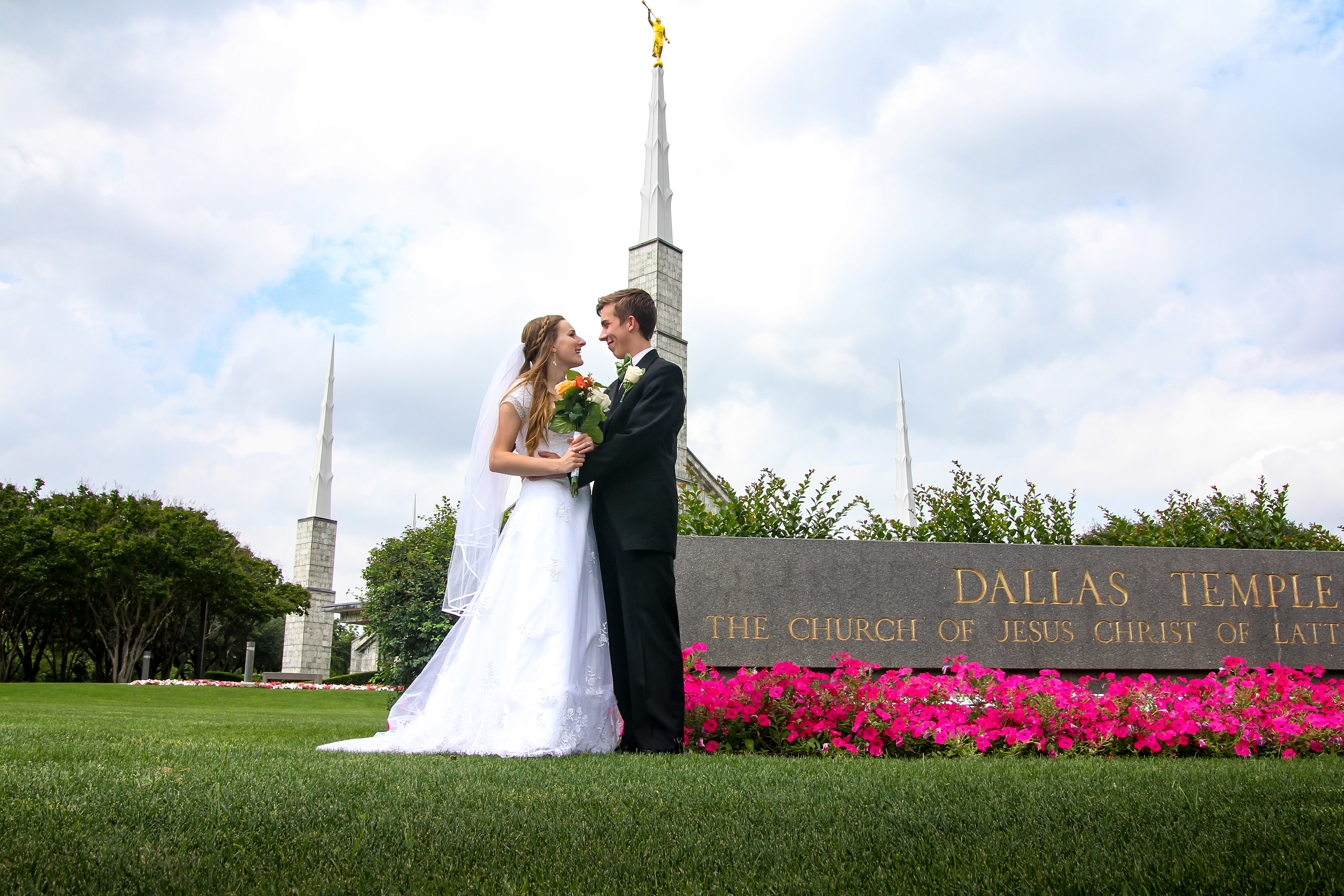 Dallas Texas Temple Wedding Photos