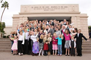 Mesa Temple Wedding Family Photos