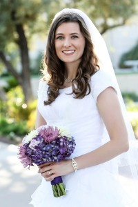 Mesa Temple Wedding Bridal Photos